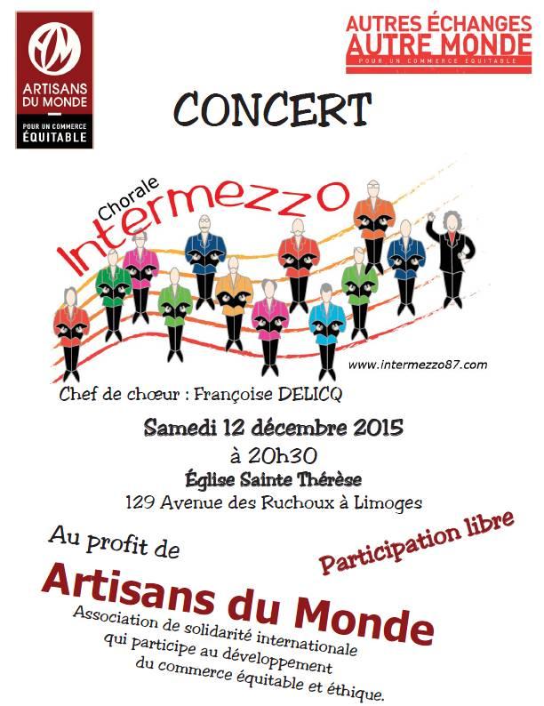 Limoges concert de la chorale intermezzo en soutien l for Maison du monde limoges