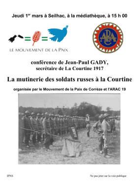 """Seilhac: conférence """"La mutinerie des soldats russes à la Courtine"""" @ Seilhac"""